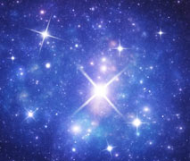 A vibrant galaxy of stars serenely burning blue